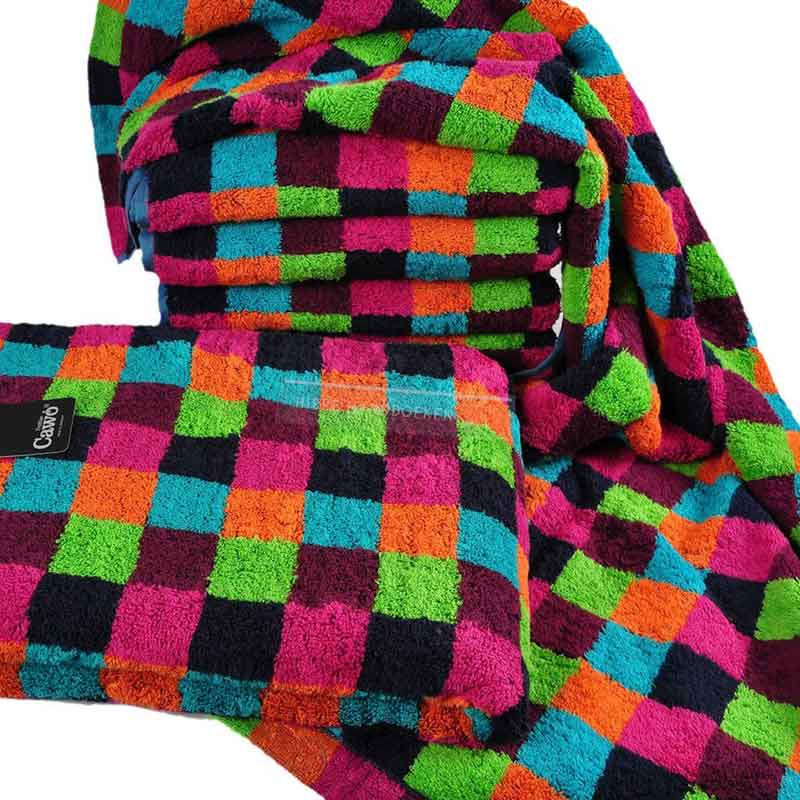 Badtextiel Life Style Multicolor Donkere Ruit stapel