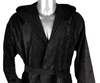 Badjas met capuchon Jorzolino-zwart detail