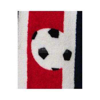 badjas-voetbal rood detail