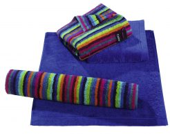 Badtextiel Life Style Multicolor Donkere Streep