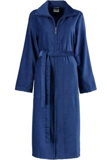 cawo badjas met rits blauw voor