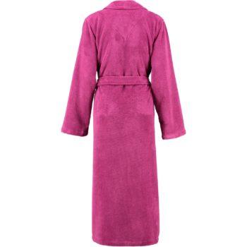 Dames badjas lago met capuchon roze achter