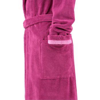 Dames badjas lago roze mouw