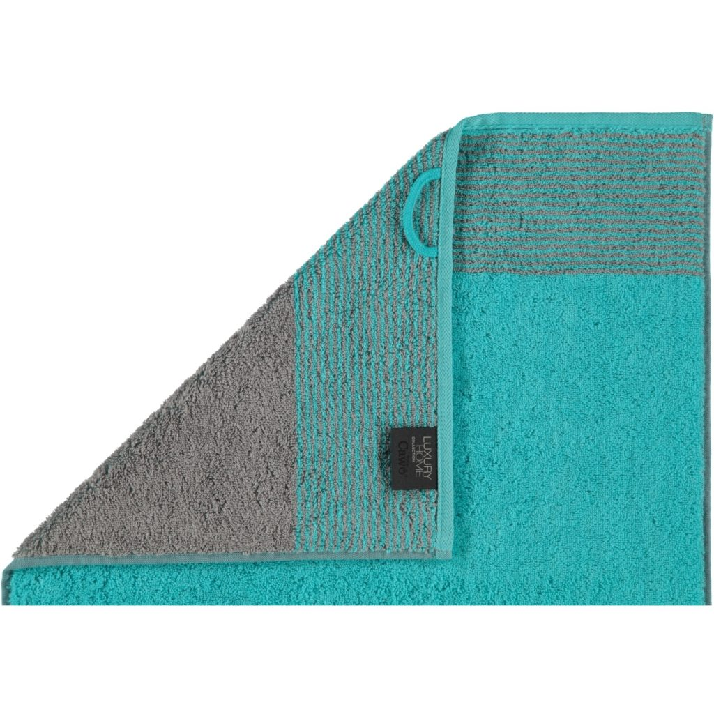 Gastendoek Two-Tone Turquoise