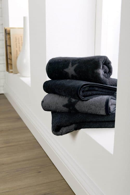 Handdoek Kleine Ster Antraciet grijs sfeer