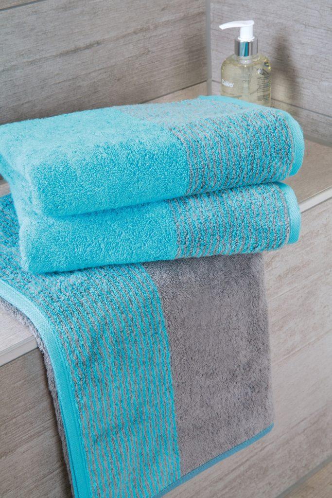 Handdoek Two-Tone Turquoise