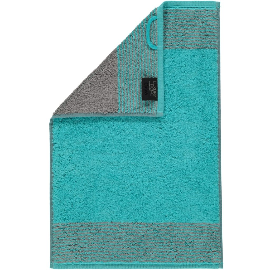 Handdoek Two-Tone Turquoise lus