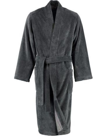 Heren badjas kimono stijl Lago voorkant grijs