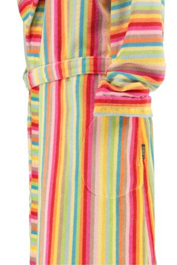 Cawö velours dames badjas met capuchon mouw
