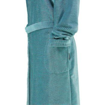 Cawö rits dames badjas met capuchon voor turquoise