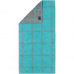 Badtextiel Cawö Two-Tone Graphic Turquoise