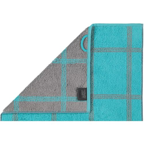 Badtextiel Cawö Two-Tone Graphic Turquoise detail