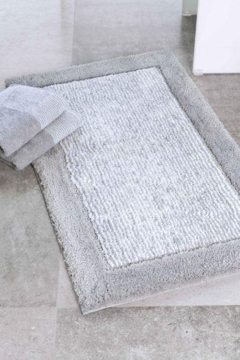Cawö Luxery Home Antislip Badmat Two-Tone Platina sfeer
