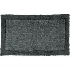 Cawö Luxery Home Antislip Badmat Two-Tone Leisteen