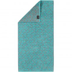 Handdoek Cawö Two-Tone Allover Turquoise