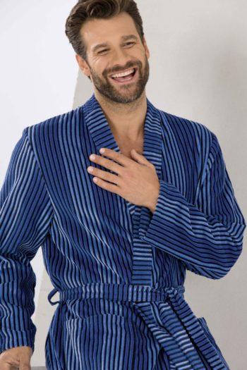 Jeugdige Blauwe Lichtgewicht Kimono Cawö