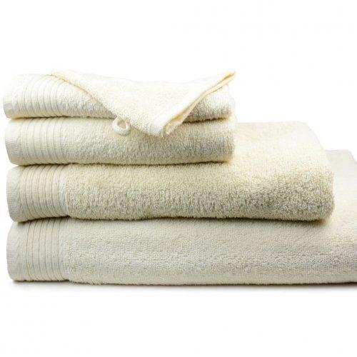 Aanbieding handdoeken kleur Creme / Ivoor