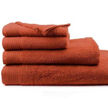 Aanbieding handdoeken kleur Terra
