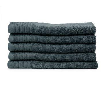 Aanbieding handdoeken stapel Antraciet