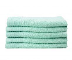 aanbieding stapel handdoeken kleur mint