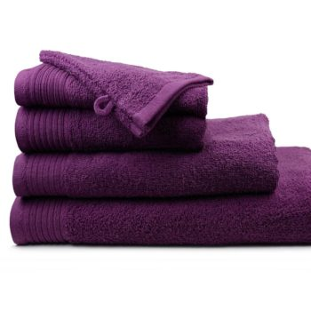 Handdoeken aanbieding kleur Pruim