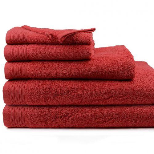 Handdoeken aanbieding kleur Burgundy rood