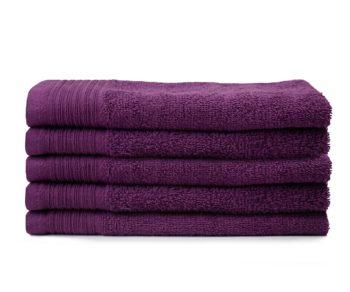 Handdoeken aanbieding luxe zware kwaliteit plum
