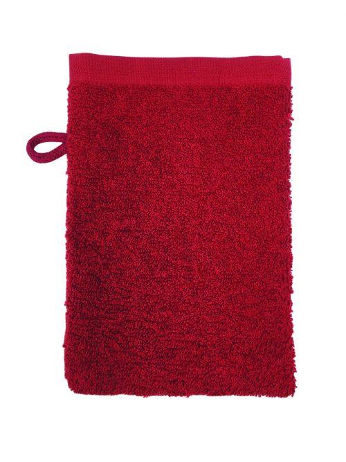 Washand aanbieding burgundy-rood