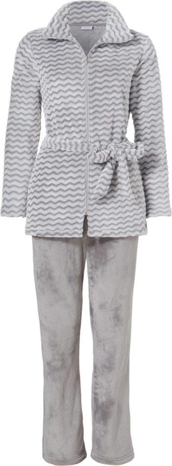 Grijs Pastunette dames homesuit in zig-zag print