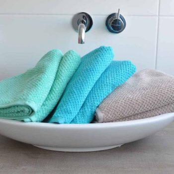 Handdoek s Oliver mint-turquoise-zand