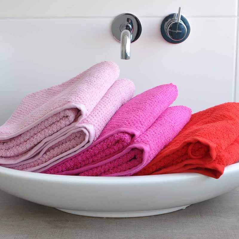 Handdoek s Oliver roze-pink-rood