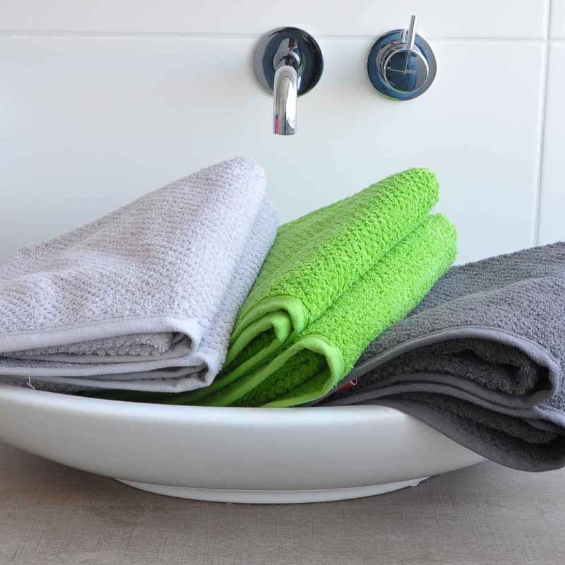 Handdoek s Oliver zilver-groen-antraciet