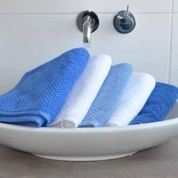 handdoek s Oliver blauw-wit