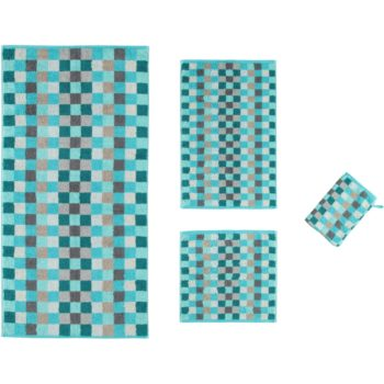Collectie badtextiel Unique Karo Turquoise