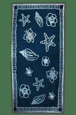 Strandlaken The One Hawaii navyblauw-lichtblauw