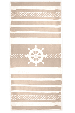 Strandlaken The One Sailor taupe/creme
