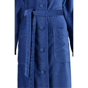 dames-badjas-met-knoop blauw voor-sluiting