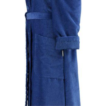 dames-badjas-met-knoop-sluiting blauw mouw