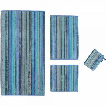 Badtextiel Cawö Two-Tone Multi Streep Blauw