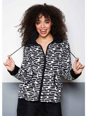Rebelle dames homesuit zwart-wit