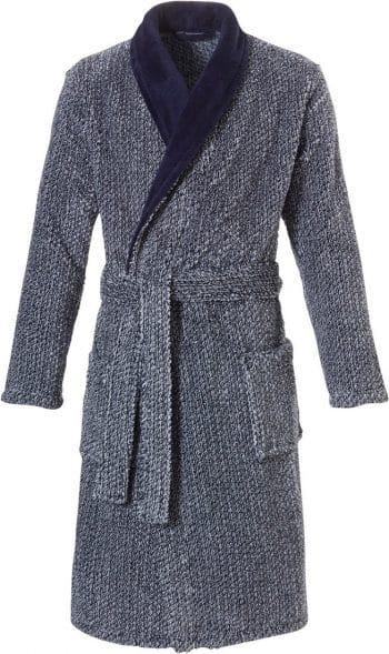 Pastunette for men fleece badjas gemêleerd blauw