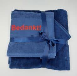 Handdoek set 4 MET borduring naam of tekst
